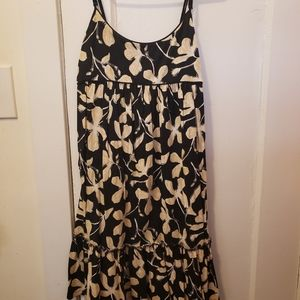 Cute black with tan flowers summer dress.
